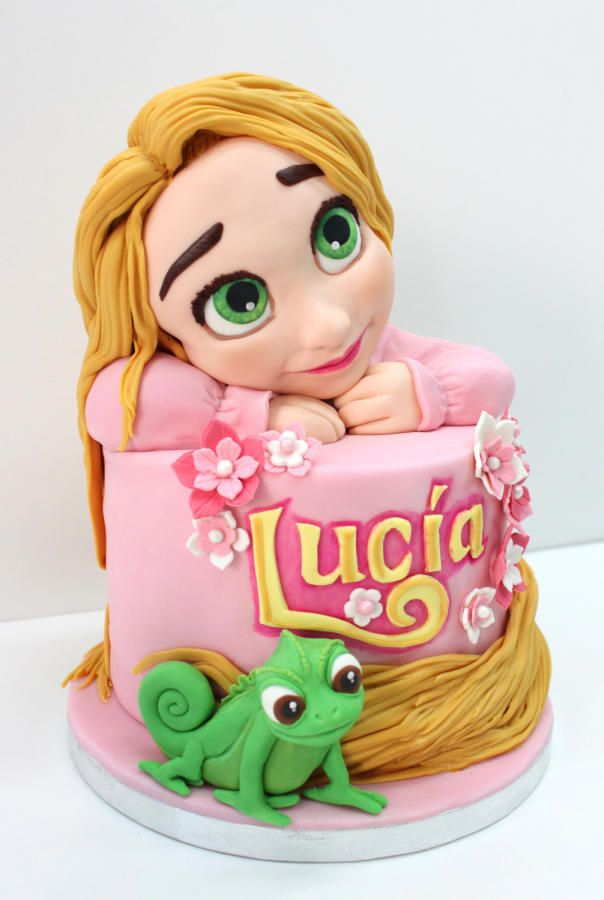 Daydreaming Rapunzel Birthday cake by Delicut Cakes