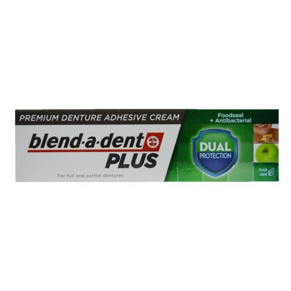 German blend-a-dent PLUS Premium Denture Adhesive Cream Dual Protection 40g