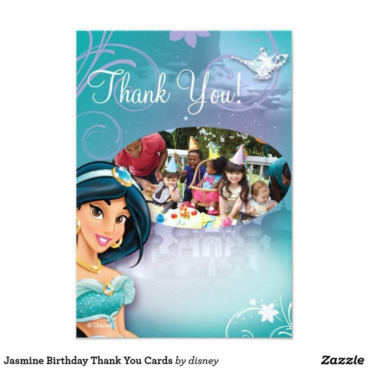disney princess party invitation templates%0A Jasmine Birthday Thank You Cards