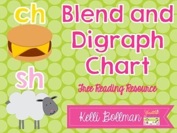 ***UPDATED APRIL 2015***This colorful Blends and Digraphs Chart is perfect to use with your Guided Reading groups as a warm up! You can also add it to your student's writing folders as a reference, or add it to your student's independent book bag or box.