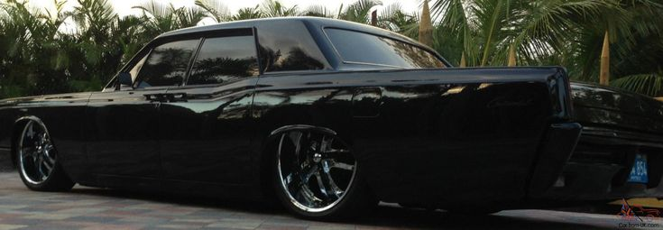 "Air Bags Suspension >> 1966 Lincoln Continental Blacked Out | 1967 Lincoln Continental Sedan All Black 22"" Rims Air ..."