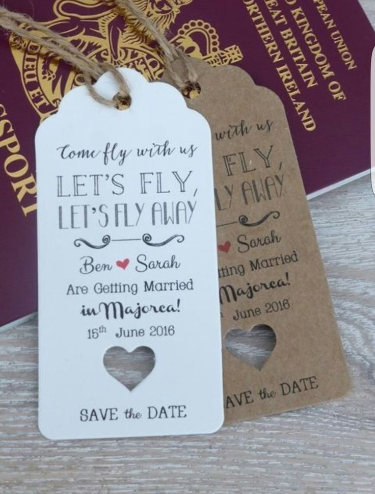 destination wedding save the dates and invitations%0A Save The Date For Wedding Abroad Invitation with Envelope Personalised  RSVP  Nice idea with paper and craft mixture but prefer more colour
