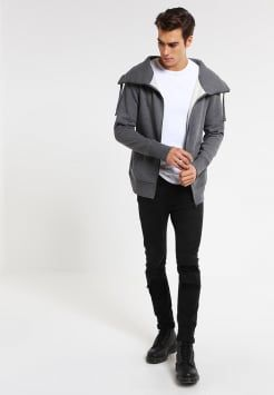 YOUR TURN - Treningsjakke - mottled dark grey