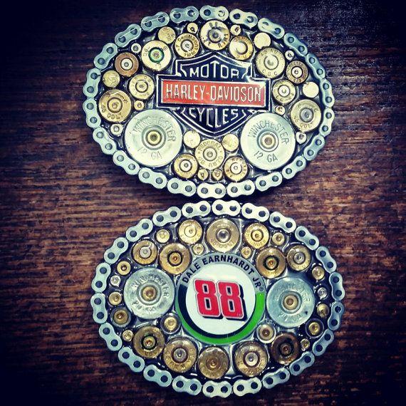 CUSTOM Belt Buckle made with spent Ammunition!