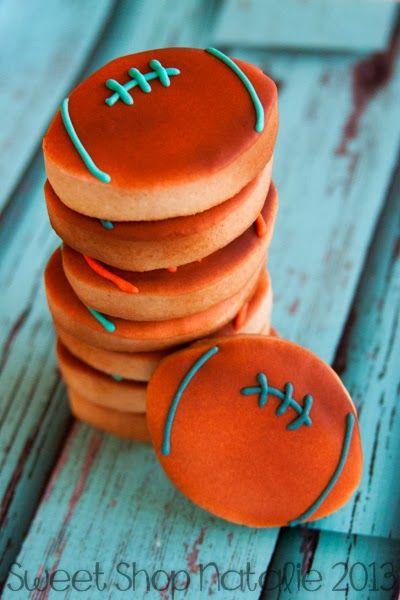 Miami Dolphins Football Cookies