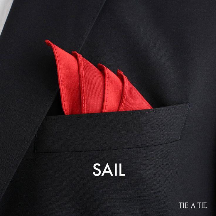 Pochette En Coton Pour Hommes Carré - Rouge Et Blanc Fleur-de-lis Par Vida Vida JirQLklQ