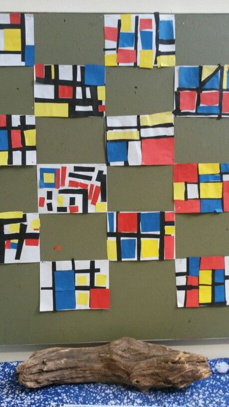 Mondriaan eigen invulling groep 4