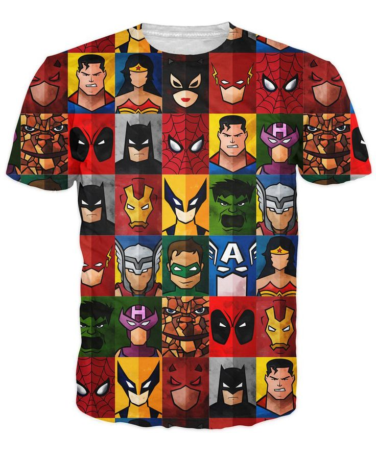 DC & Marvel Superhero Themed T-shirt //Price: $20.00 & FREE Shipping //     #batman #deadpool #marvelc #dc