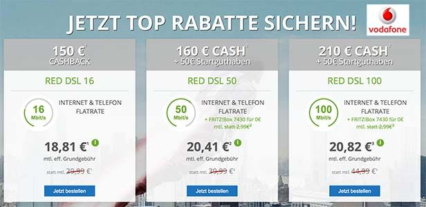 Vodafone DSL Tarife mit bis zu 260€ Bonus http://www.simdealz.de/vodafone/dsl-tarife-mit-auszahlung/