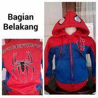 Jaket anak spiderman  Size : 2,3,4,6,8,10  Keterangan Lebar Dada dan Panjang: Size 2:32/41cm Size 3: 35/42cm Size 4: 35/46cm Size 6: 38/49cm Size 8: 40/51cm Size 10:42/55cm Biasanya:  sz 2 utk 1th Sz 3 utk 2th sz 4 utk 3th sz 6 utk 4-5th sz 8 utk 6th Sz 10 utk 7-8th www.tokopedia.com/jaketanak pin 5f957786 wa: 085288041323