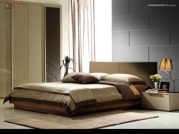 Beautiful Home Decor Bedroom Designs Minimalist Modern Design Ideas Feature Brown Walnut Platform Bed With Soft Themed Color And Based