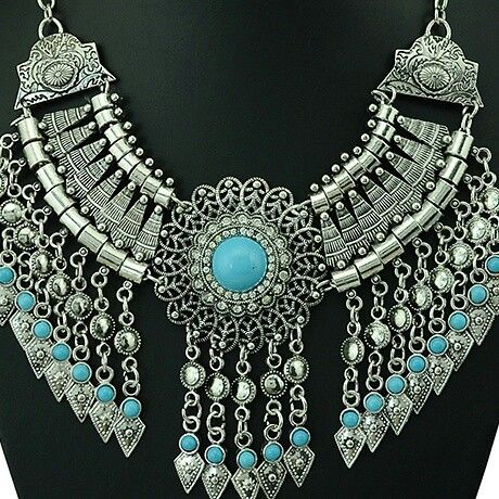 Silver statement necklace #asharlah