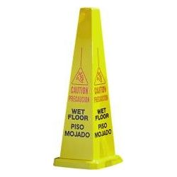 Wet Floor Sign 4 Sided, Multicolor