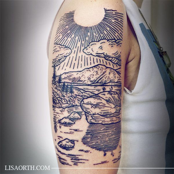 20 best ideas about woodcut tattoo on pinterest line for Tattoo line work