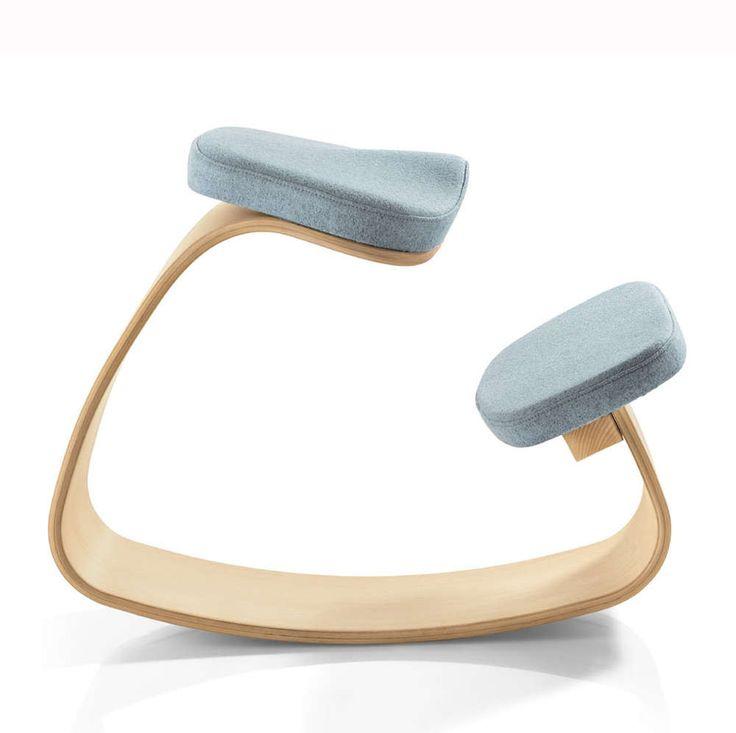 Kniehocker Rokko Mit Ergonomischem Sitzpolster Von NEST NATURE Fördert  Dynamisches Sitzen Und Unterstützt Eine Gesunde Körperhaltung