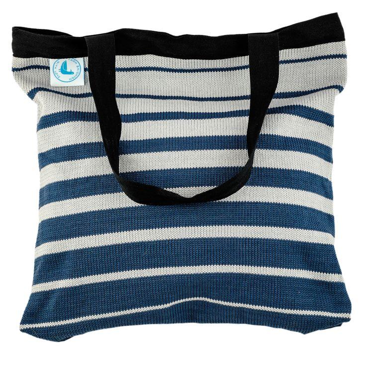 Beach Bag - Blue Stripes