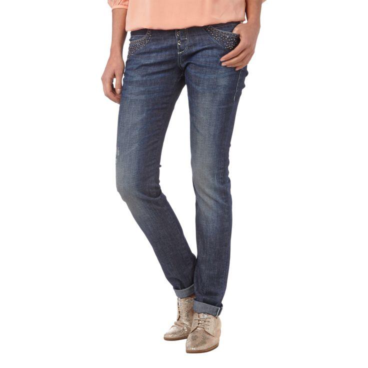 | MAC #Straight #Fit #Jeans mit #Ziersteinbesatz #für #Damen