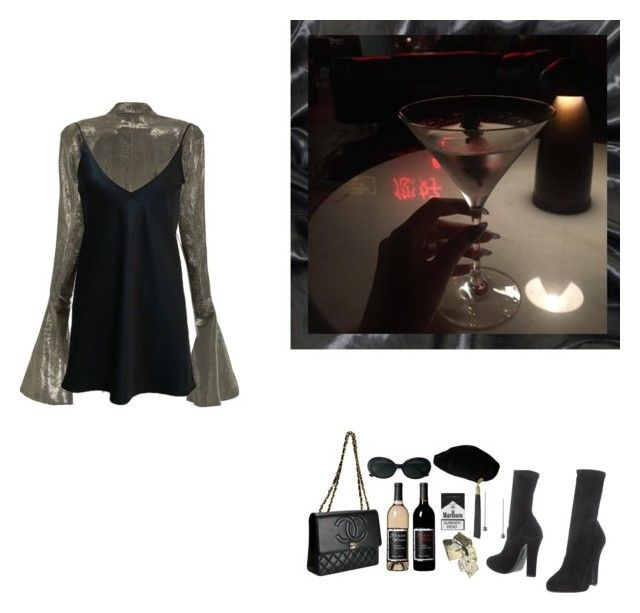 """""""#satin #AFTERPARTY"""" by liliakorobkina ❤ liked on Polyvore featuring Emporio Armani, Lana Mueller, Chanel, Zimmermann and Yves Saint Laurent"""
