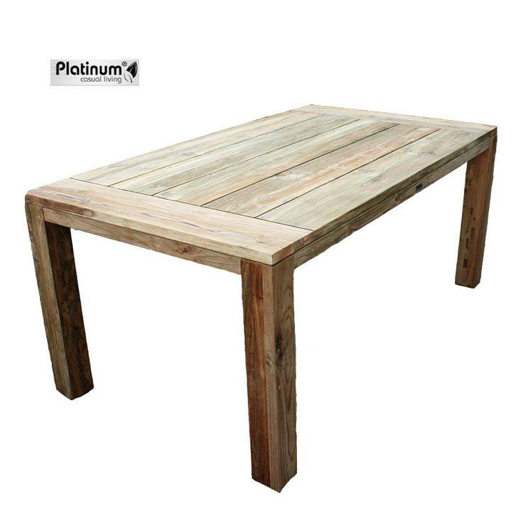 De teaktafel Nimes Vintage van Platinum Casual Living is een schitterende tafel, met een prachtige afwerking. Deze teaktafel is zeer stevig en robuust en gaat vele jaren mee. #bijzettafel #bijzettafels #tuintafel #tuintafels #Tuintrends #Tuin #Tuinieren #Tuinmeubel #Tuinmeubels #Tuinmeubelen
