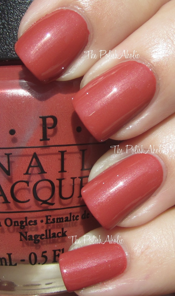 Schns Out Of It Opi Fall 2017 Germany Collection Swatches Gel Version Is Slightly Darker Brick Red