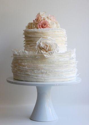 Wedding Ideas: pink-flower-wedding-cake