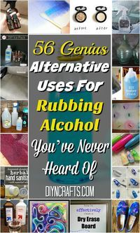 56 Genius Alternative Uses For Rubbing Alcohol You've Never Heard Of {Wow so many good ideas!}