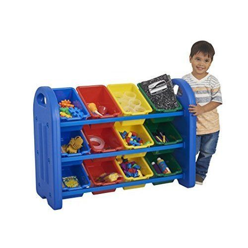 Kids Storage Organizer Rack Bookcase Plastic Cubes Toys Container Bins Box #Unbranded