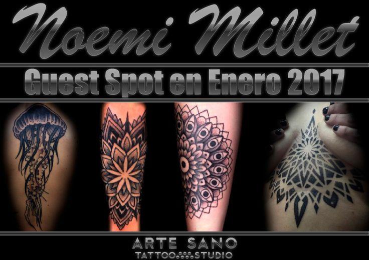 A primeros del año que viene, contaremos en el studio con Noemi Millet, tatuadora especializada en DotWork y geometrías. Si te gusta este estilo de tatuajes, esta es tu oportunidad de lucir una bonita pieza de esta gran artista. Para información y citas: web@artesanotattoo.com | 944 360 960