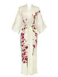 Valentine Gadget Gifts For Woman: Old Shanghai Women's Silk Kimono- Handpainted (Long) Hand-painted artwork on both front and back. Sash tie closure, belt loops and inside ties. French seam finish. Exclusive to Old Shanghai collection.  http://awsomegadgetsandtoysforgirlsandboys.com/valentine-gadget-gifts-woman/ Old Shanghai Women's Silk Kimono- Handpainted (Long)