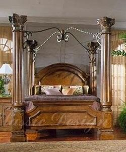 bordeaux king size canopy bed - King Canopy Bed Frame