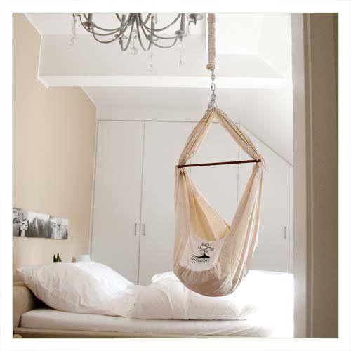 NONOMO® Babywiege | Federwiege | Babyhängematte, 169,90 EUR, #sleepingroom #white #schlafzimmer #babyhängematte #schlafen #baby #kinderzimmer