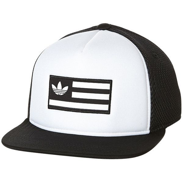Adidas Trucker Cap (155 HRK) ❤ liked on Polyvore featuring men's fashion, men's accessories, men's hats, mens mesh hats and mens snapback hats