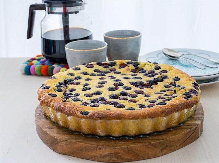 Vaniljkaka med blåbär