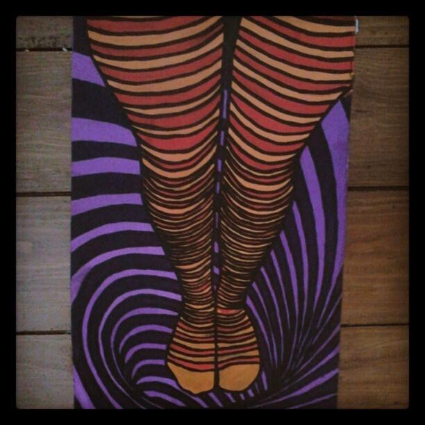 "@slinky_sleer's photo: ""#wonderland #legs #stockings #mypainting"""