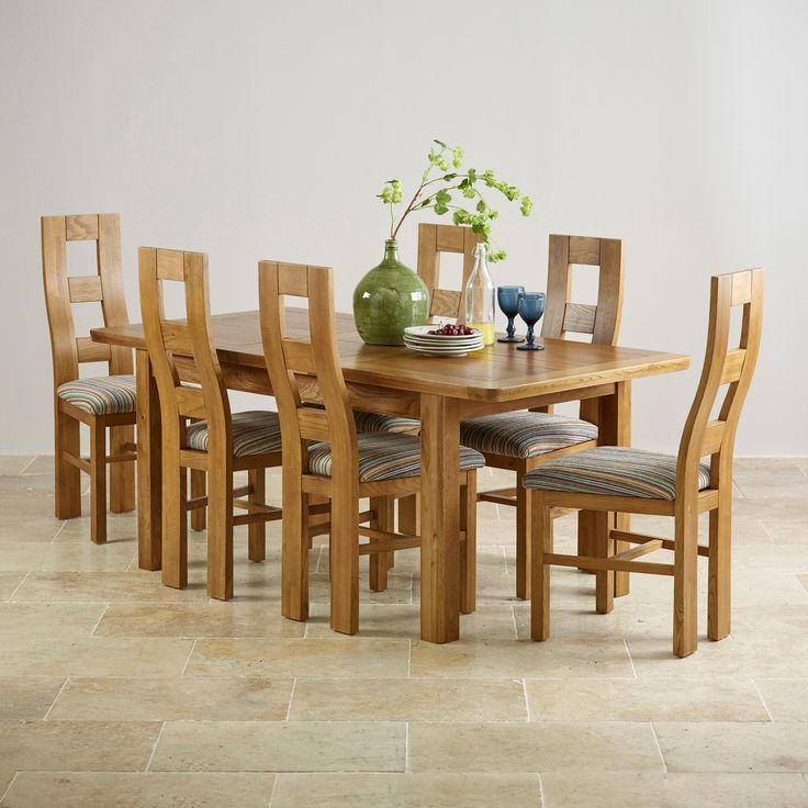 Orrick x Rustic Solid Oak Extending Dining