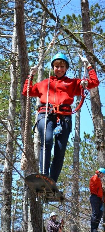 Adventure park - skateboard from tree to tree...