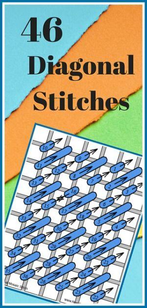 46 Needlepoint, Canvas Diagonal Stitches                              …