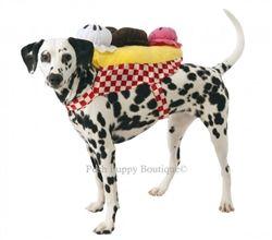 Banana Split Ice Cream Sundae Dog Costume- Costumes Posh Puppy Boutique