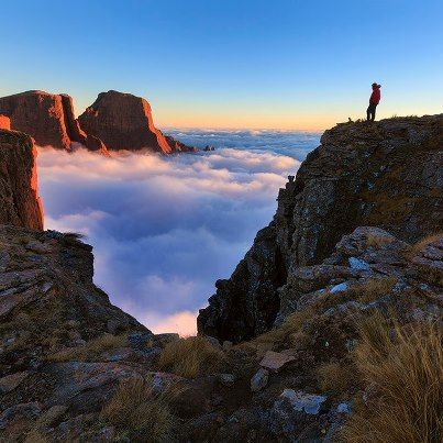 atop the Drakensberg Mountains in South Africa. Cannot wait to take my own pictures