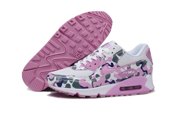 Cheap Best Nike Air Max 90 Flower Online Pink White Sports Shoes and Nice Nike Womens Air Max on Sale