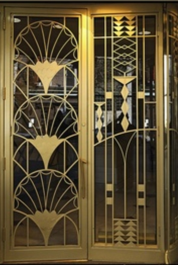 Art deco doors in chicago lobby pinterest art deco for Decoration murale art deco