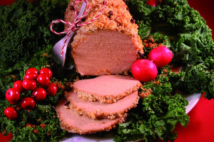 Griljerad julsk*nka (Astrid och Aporna). Recept: http://www.vegokoll.se/recept/griljerad-julsknka