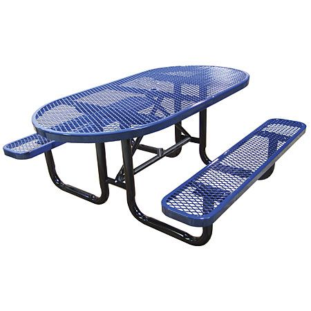 Oval Expanded Metal Picnic Table- $503 walmart
