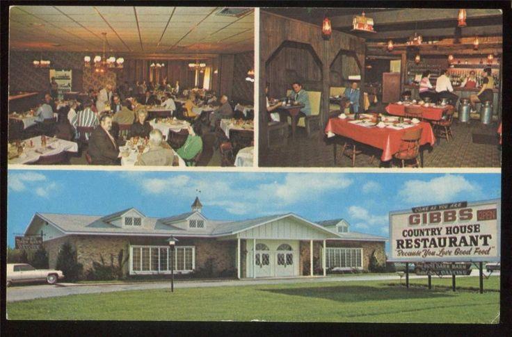 LUDINGTON, MI~ Gibbs Country House Restaurant c1970s Chrome Postcard