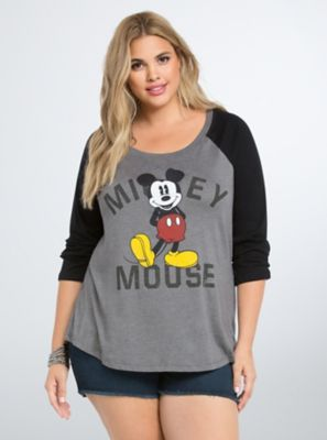 mouse raglan tee in black red disney mickey mouse and raglan tee. Black Bedroom Furniture Sets. Home Design Ideas
