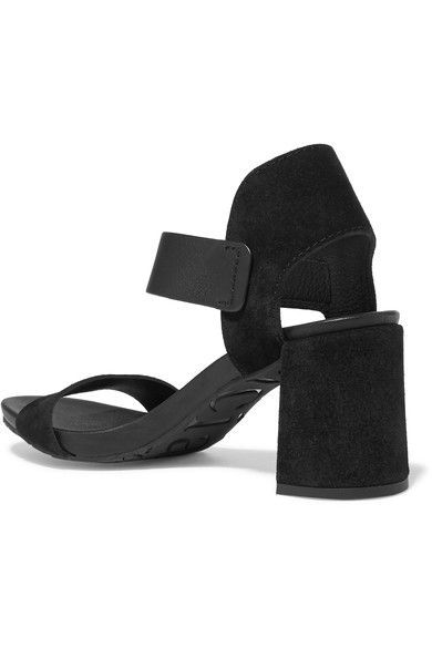 Pedro Garcia - Willa Textured-leather And Suede Sandals - Black - IT35.5