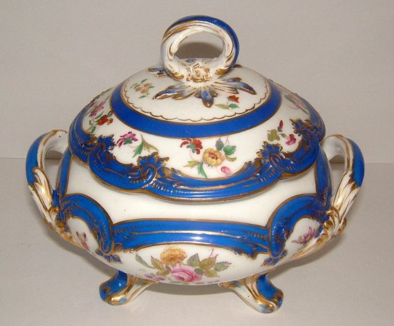 Victorian Royal Worcester Soup Tureen Vintage by BiminiCricket