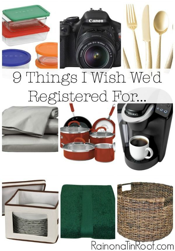 A list of things that no newly wed couple, or any couple, should be without!