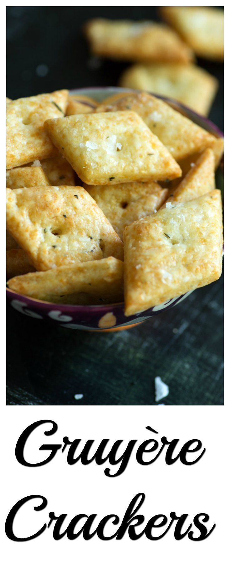 Gruyère Crackers are the grown up version of a childhood favorite, homemade but still easy to make with just 4 ingredients. These savory crackers will be your go to snack or appetizer.