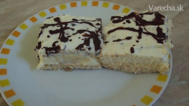 Stracciatella-krupicový koláč, nepečený (fotorecept)